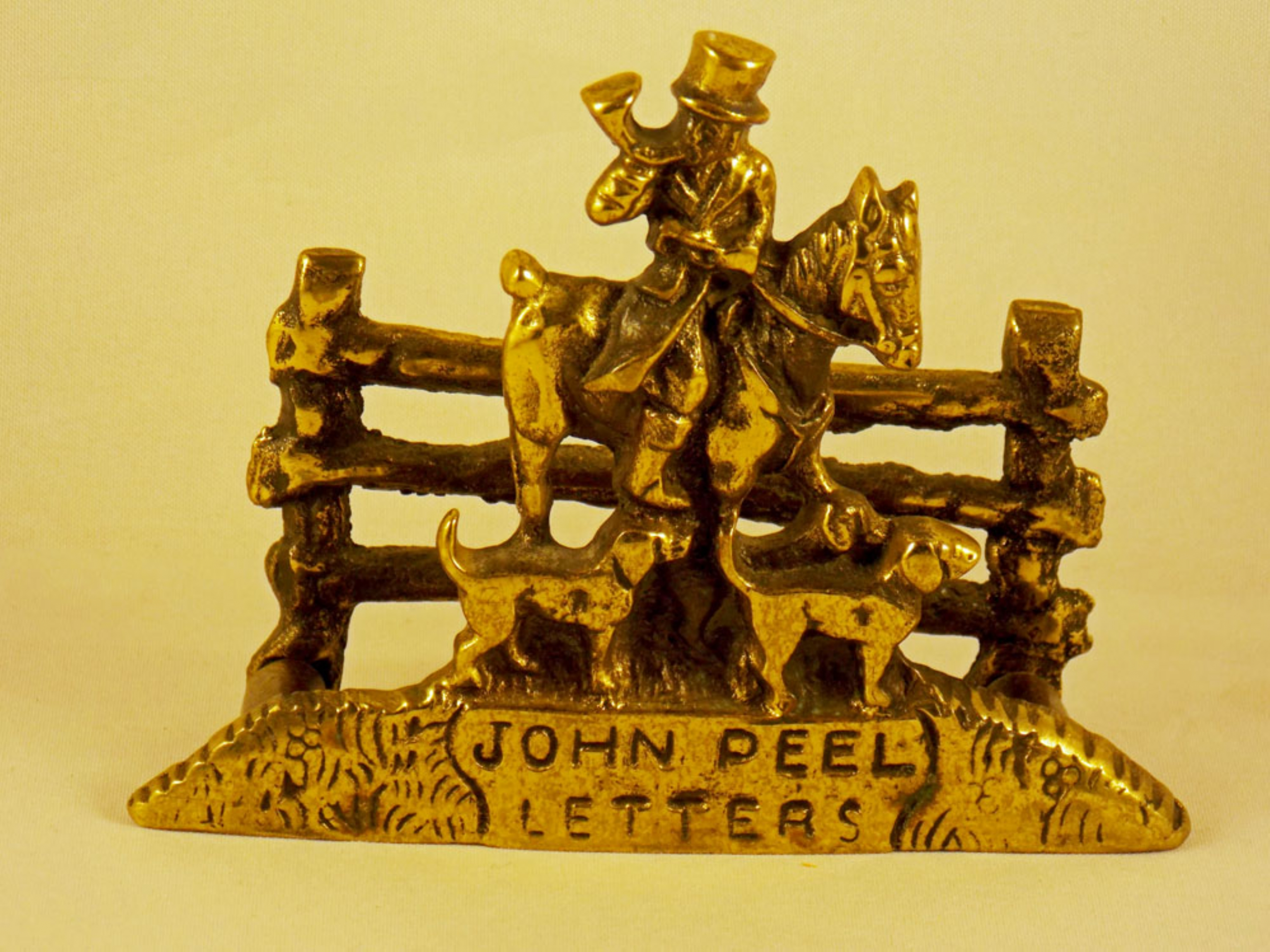 Brass John Peel letter rack