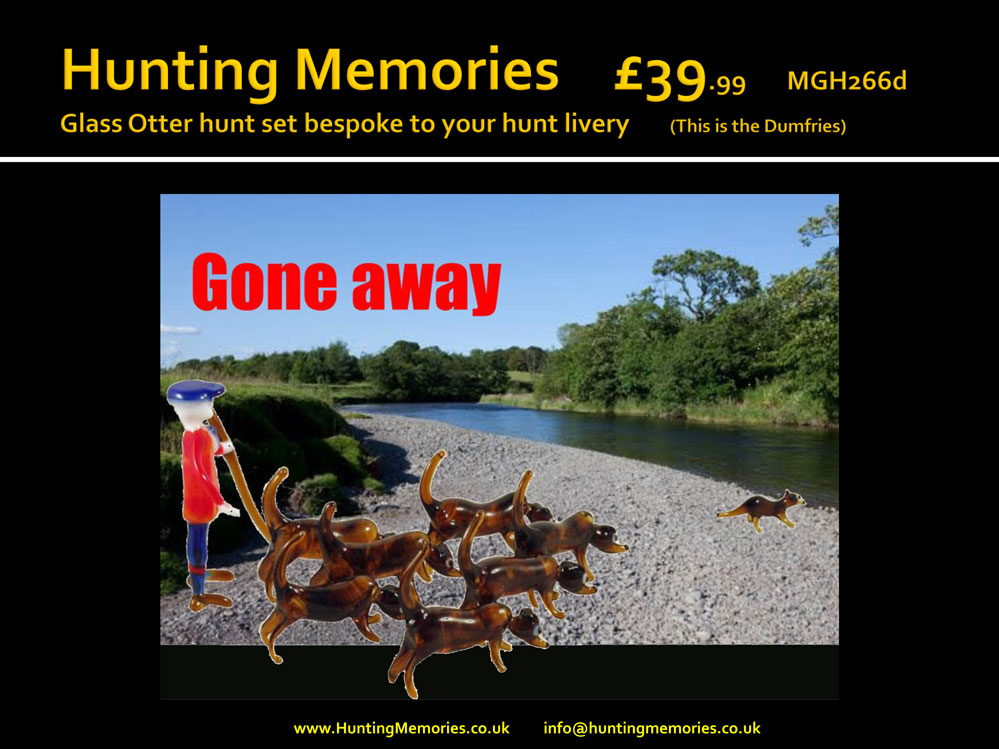 Glass Dumfries Otter Hunt set