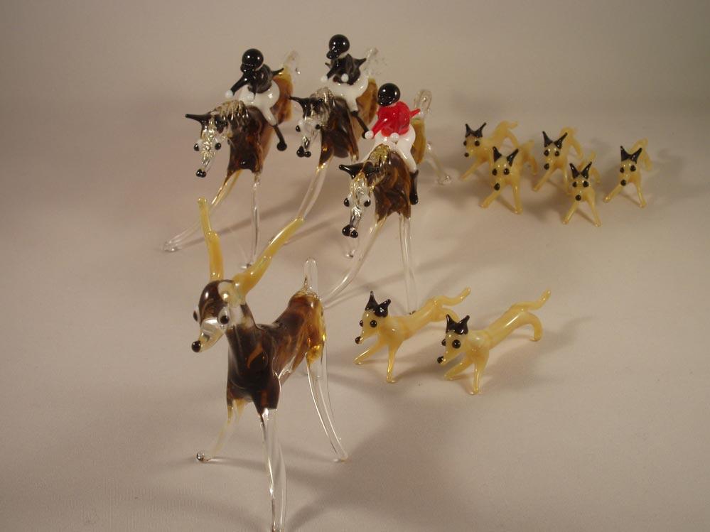 Hunting Cake Decorations Uk : Hunting Memories - Glass Stag hunting cake decoration set