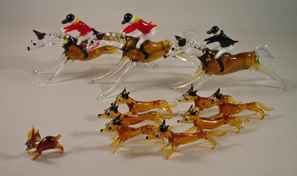 Hunting Cake Decorations Uk : Hunting Memories - Glass fox hunting cake decoration set